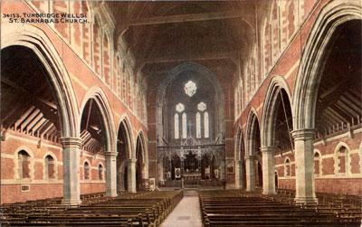 St Barnabas Church - Interior (Post Card) - Collection: Katharina Mahler, Tunbridge Wells